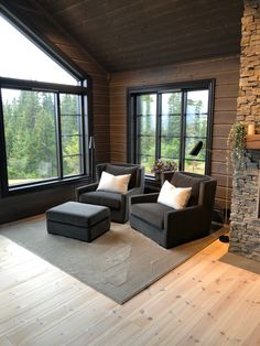 Cabin Ideas, North Shore, Outdoor Furniture, Outdoor Decor, Cottage, Patio, Mood, Living Room, Architecture