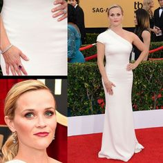 Throwback for the 2015 Screen Actors Guild Awards when the gorgeous actress Reese Witherspoon @reesewitherspoon arrived at the Red Carpet wearing more than $3.5 million worth of Harry Winston @harrywinston diamonds that included emerald-cut diamond drop earrings set in platinum a 24-carat princess-cut diamond line bracelet set in platinum and a cushion-cut pink sapphire & diamond cluster ring and a custom Giorgio Armani @armani one-shoulder white gown.  #purplebyanki #diamonds #luxury…
