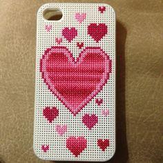 Customized cross stitch iPhone 4 case