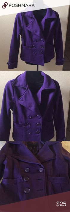 Cotton coat Really cute purple cotton coat. It fits it waist. Has large purple buttons and two front pockets. Lightly used. Jackets & Coats Blazers