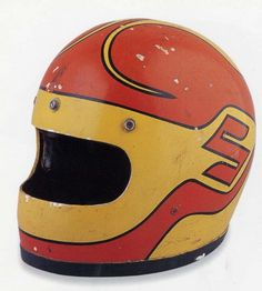 Vintage motorcycle helmut  (Could not find any info on this one)   via bande à part