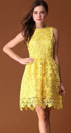#Yellow #Lace #Dress <3 Nothing like a beautiful yellow dress in the summer!