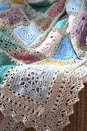 Lovely blanket and lovely border when you want that little extra lace.  Ravelry: CherryHeart's Sampler Blankie