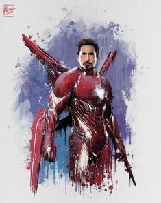 Iron Man bleeding edge armour Tony gets a new armour which is nanotech and appears from his arc reactor.
