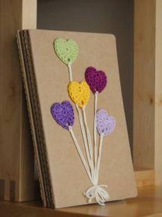 Caderno pautado com capa papel kraft13 x 21 cm