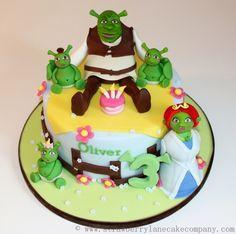 Shrek and Family Birthday Cake