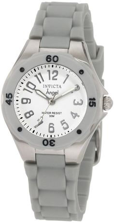 Invicta Women's 1611 Angel Collection Rubber Watch * Want to know more about the watch, click on the image.