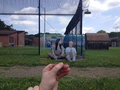"""I had never been there before so I didn't know what to expect, but to my surprise when I got there, there was no gate at the entryway to keep anyone out,"" Gardella told BuzzFeed. ""There were other fans walking around too."" 