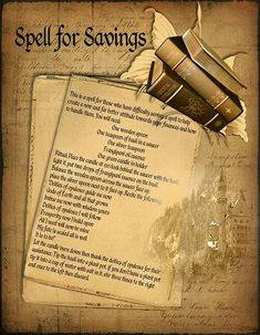 Money magick spell page 1 - LaPulia Book of Shadows Wiccan Witch, Wicca Witchcraft, Magick Spells, Wiccan Magic, Voodoo Spells, Candle Spells, Prosperity Spell, Tarot, Fete Halloween