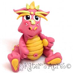 Polymer Clay Dragon 'Petunia' Limited Edition Collectible by KatersAcres