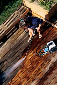 Its spring! Time to clean up the house and yard and get ready for warm weather and outdoor entertaining. Pressure washing is a fast, easy -- and even kind of fun -- way to blast dirt and mildew off of vinyl siding and layers of muck from decks, driveways, and sidewalks.