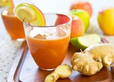 Zumo de zanahoria, manzana y jengibre