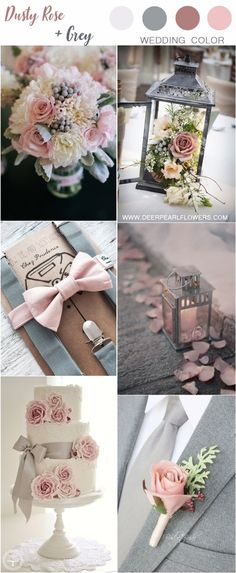 dusty rose and gray wedding color ideas ideas colors # . ideas Informations About staubige Rose und graue Hochzeit Farbideen Blush And Grey Wedding, Grey Wedding Theme, Gray Wedding Colors, Dusty Rose Wedding, Wedding Color Schemes, Wedding Themes, Wedding Flowers, Dream Wedding, Wedding Ideas