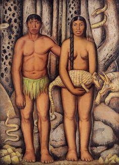 forma es vacío, vacío es forma: Alfredo Ramos Martínez - pintura. Los Primeros Americanos - 1933