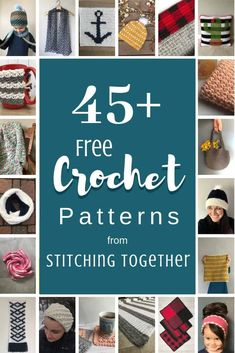 Enjoy these free crochet patterns from Stitching Together. You'll find something you love from adult or kid crochet patterns to patterns for the home. Get comfortable and browse some great crochet patterns! Quick Crochet, Crochet Home, Crochet For Kids, Free Crochet, Knitting Patterns, Crochet Patterns, Craft Patterns, Crochet Ideas, Crochet Infinity Scarf Pattern