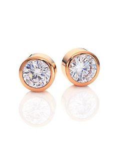Michael Kors Park Avenue Glam Jeweled Stud Earrings/Rose Goldtone - Ro