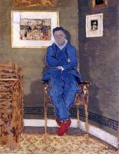 Félix Vallotton in His Studio, Oil On Panel by Edouard Vuillard (1868-1940, France)