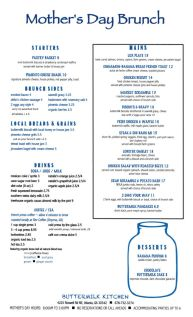 Check out our special menu for #MothersDay! – Susie Rachele, General Manager of Buttermilk Kitchen http://buttermilkkitchen.com/