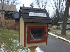 I built my Little Free Library to match my house.  #300.  It went up in December 2011 at 461 South McCarrons Blvd Roseville Mn.