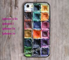Watercolor Paints Box iphone case iphone 4 by charmcover on Etsy, $7.99