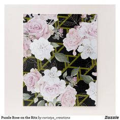 Shop Puzzle Rose on the Ritz created by caristys_creations. Nana Gifts, Grandmother Gifts, Puzzle Art, Cabbage Roses, Photo Blocks, Make Your Own Puzzle, Parent Gifts, Day Up, Unique Home Decor