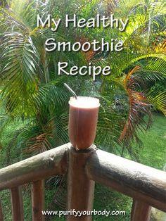 Healthiest Smoothie Recipe that tastes fantastic!! #Smoothie  #MatchaGreenTea  http://blog.purifyyourbody.com/2014/07/nutrient-dense-breakfast-smoothie-with.html