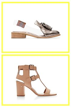 Wear These With: The Shift Dress  Jeffrey Campbell Pewter & Clear Slingback Lawless Loafers, $140, available at SSENSE; Laurence Dacade Diane T-Bar Leather Sandals, $985, available at Moda Operandi.
