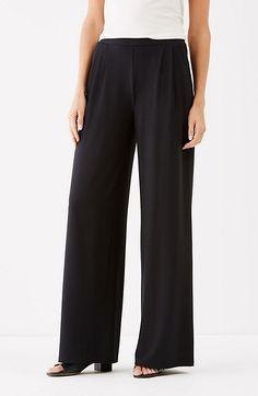Wearever pleated wide-leg pants