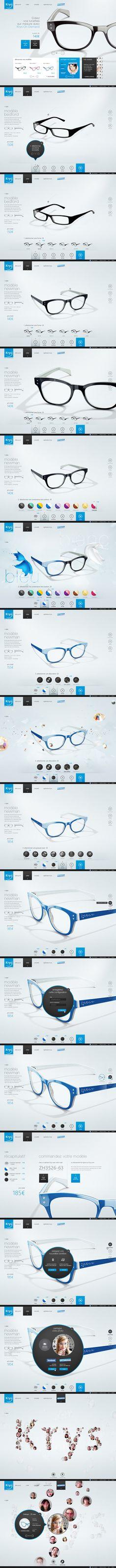 UX/UI Design / Krys Configurator by Yul http://ecommerce.jrstudioweb.com/