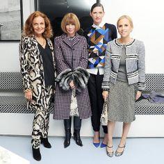 Diane von Furstenberg, Anna Wintour, Jenna Lyons, and Tory Burch