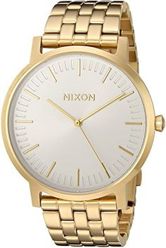 Nixon Men's 'Porter' Quartz Stainless Steel Automatic Watch, Color:Gold-Toned (Model: A10572443-00) -- Click on the image for additional details.