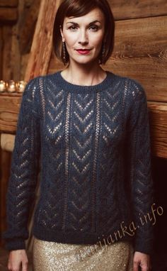 Ажурный пуловер (ж) 331 Creations Bergere de France 2016/2017 №4764 knittint