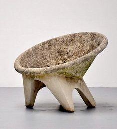 // Anonymous . concrete garden chair, c1970