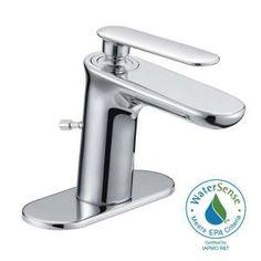 centerset carmine 1handle higharc mono block bathroom faucet in chrome