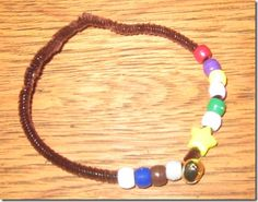 "Christmas story bracelet. Each colour bead/star/bell is a reminder of a different part of the Christmas story. Loving this because this would (I think) be considered ""cool"" enough for most of the girls in Sunday school class to wear frequently and it then becomes a constant reminder of the real meaning of Christmas."