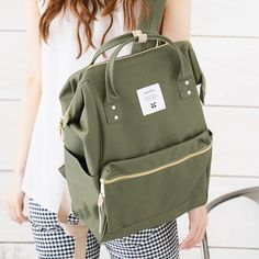anello JAPAN Backpack Campus Rucksack Canvas School BIG Bag with ...