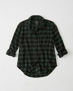 Dark Green Flannel