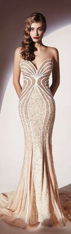 My God this is Gorgeous! Dany Tabet Couture 2014 #dress #fashion