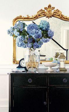 blue blooms - Vicki Archer //  https://www.instagram.com/vickiarcher/