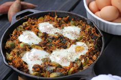 This is one of our favorite recipes for Saturday brunch.  Our typical Saturday involves waking