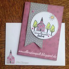 """Hochzeitskarte mit dem Stempelset """"Stadt Land Gruß"""" von Stampin'Up!"""