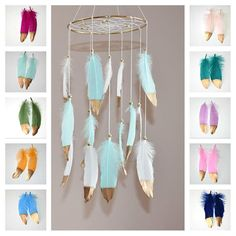 Custom Feather Baby Mobile Dreamcatcher Mobile Baby Girl