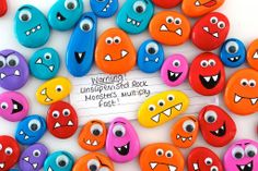 rocks and stones : get kids to collect rocks an stones, paint then stick on googly eyes