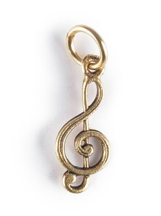 """5/8"""" Pewter treble clef charm to wear alone or add to our personalized letter and name charms. * New York"""