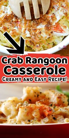This easy, crab rangoon casserole from Pint-sized Treasures is incredibly cheesy and packed with crab and all the flavors that crab rangoon fans love! Really, this casserole recipe is one that everyone will love for dinner! It has tremendous flavor and is super easy to make. So, grab the recipe and make this delicious crab rangoon casserole for your next dinner recipe. Kids Meals, Easy Meals, All Family, Casserole Recipes, Macaroni And Cheese, Super Easy, Dinner Recipes, Ethnic Recipes, Fans