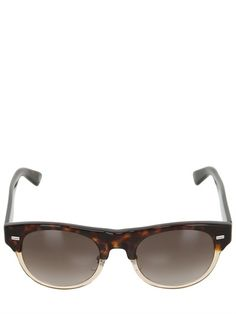 TWO TONE ROUNDED ACETATE SUNGLASSES