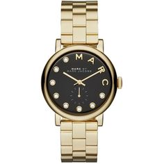 Marc by Marc Jacobs Baker Dexter Bracelet 36MM (£175) ❤ liked on Polyvore featuring jewelry, watches, accessories, bracelets, montres, stainless steel jewellery, water resistant watches, polish jewelry, clear jewelry and stainless steel watches