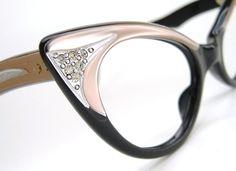 Vintage Pink Cat eye Glasses Sunglasses by Vintage50sEyewear