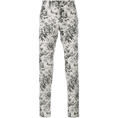 GUCCI Tailored Floral Print Trousers ($645) ❤ liked on Polyvore featuring men's fashion, men's clothing, men's pants, men, retro mens clothing, men's apparel, mens cotton pants, mens pants and gucci mens clothing