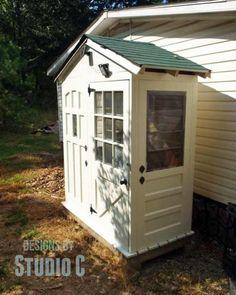 57-003 - Shed with Old Door Walls PDF - WoodworkersWorkshop ...